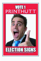 Corflute election signs